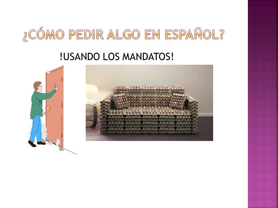 ¿Cómo pedir algo en español