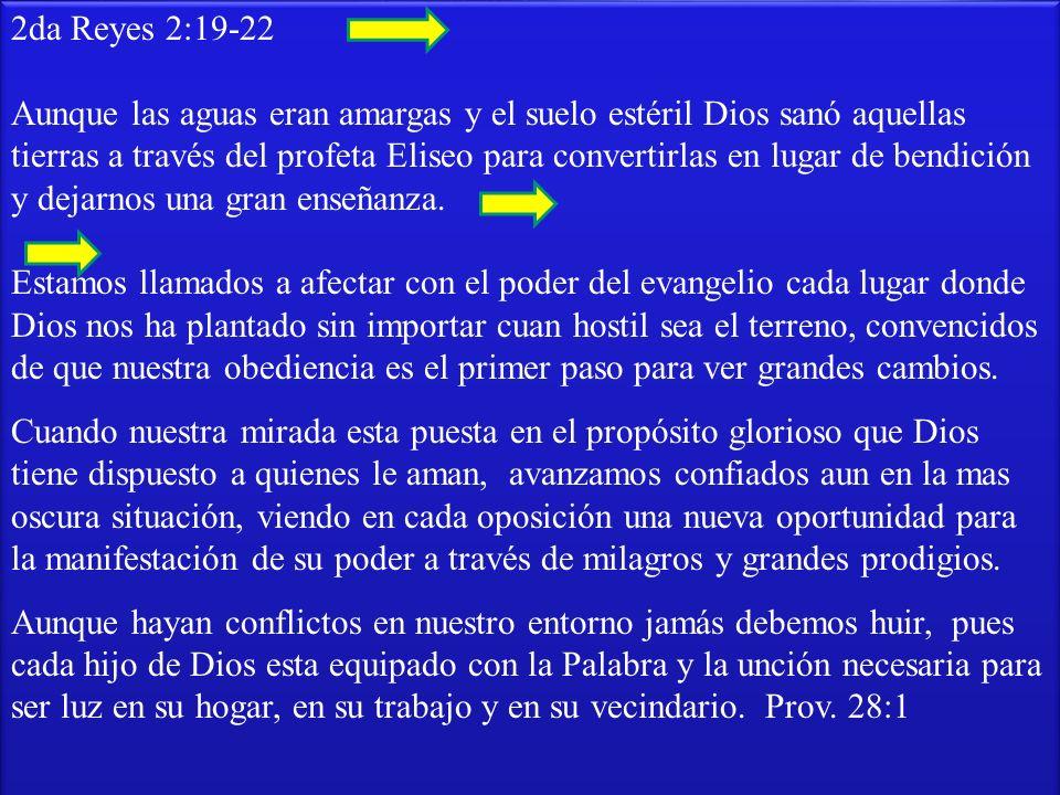 2da Reyes 2:19-22