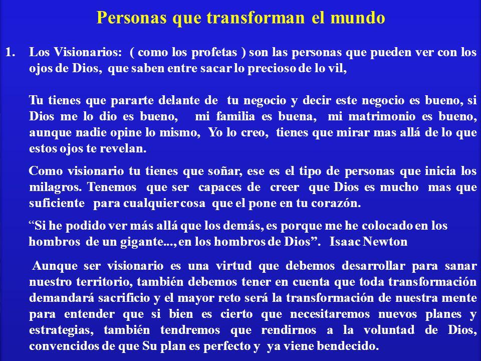 Personas que transforman el mundo