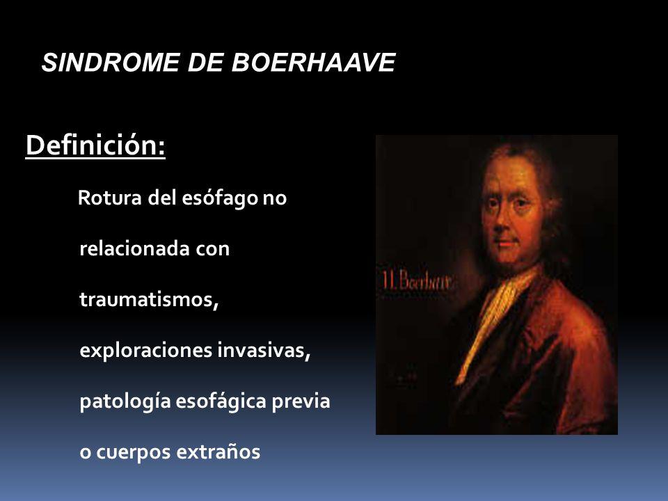 Definición: SINDROME DE BOERHAAVE