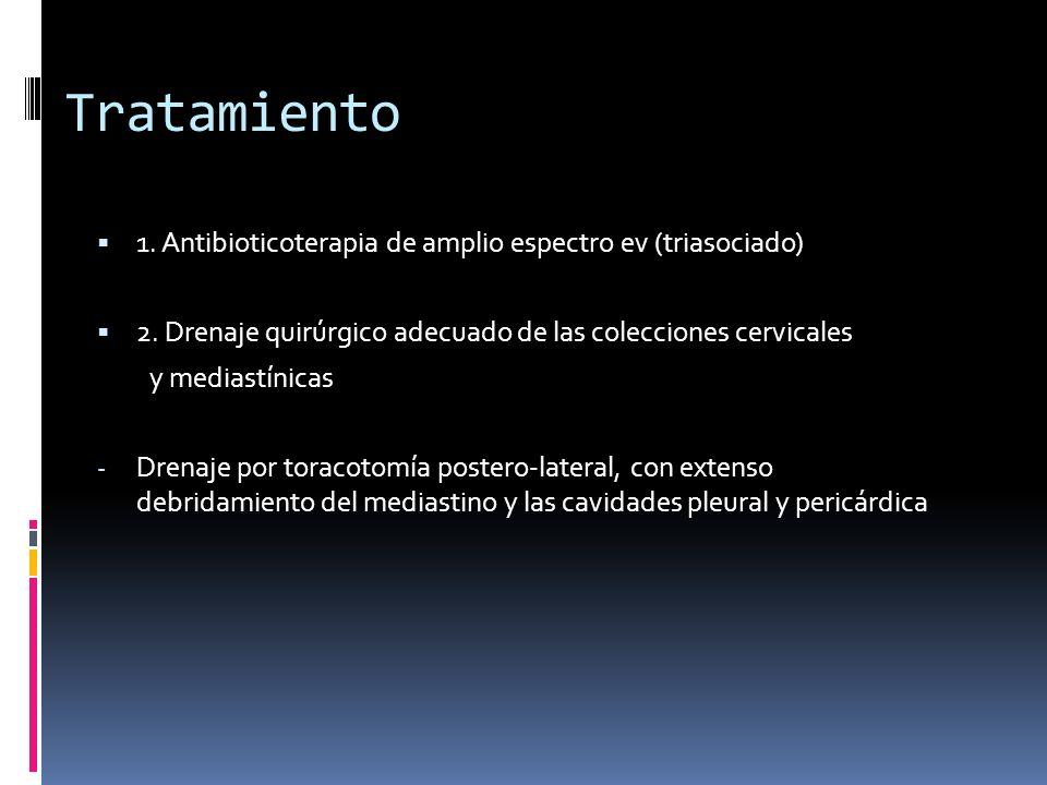 Tratamiento 1. Antibioticoterapia de amplio espectro ev (triasociado)