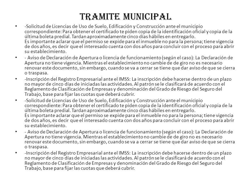 Tramite municipal