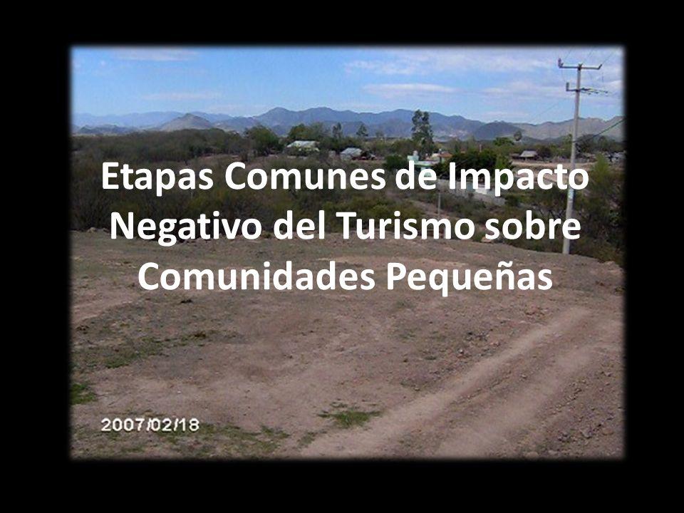 Etapas Comunes de Impacto Negativo del Turismo sobre Comunidades Pequeñas