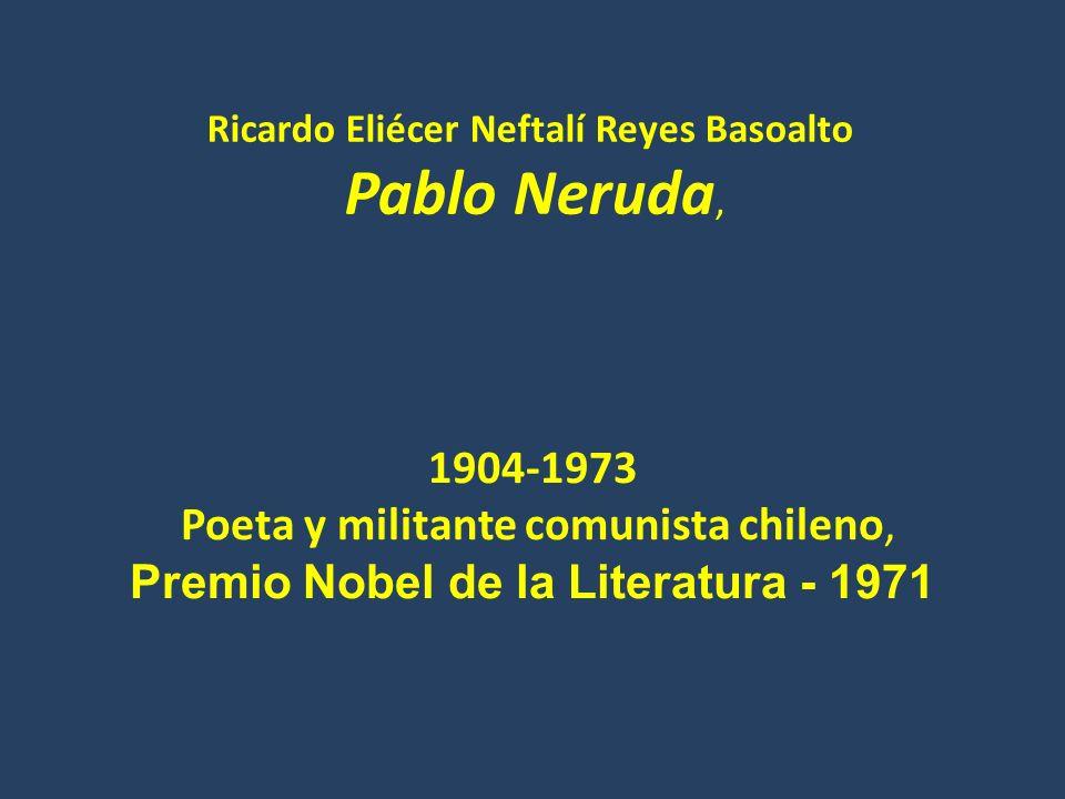 Premio Nobel de la Literatura - 1971