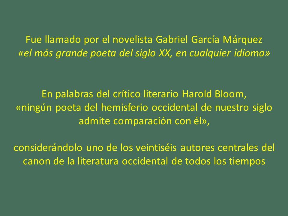 Fue llamado por el novelista Gabriel García Márquez