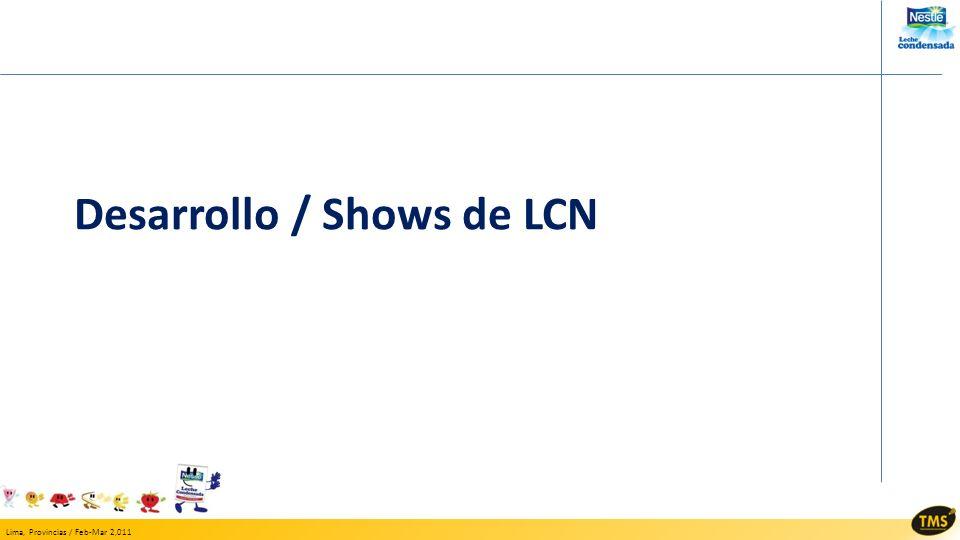 Desarrollo / Shows de LCN