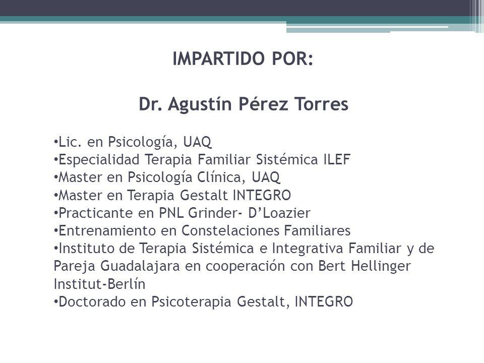Dr. Agustín Pérez Torres