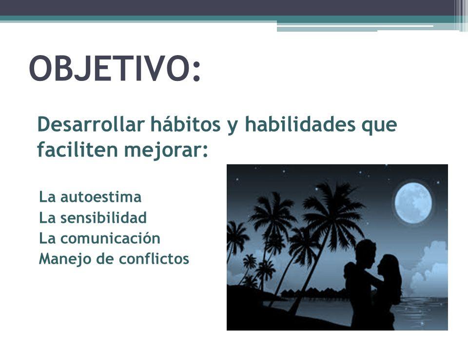 OBJETIVO: Desarrollar hábitos y habilidades que faciliten mejorar: