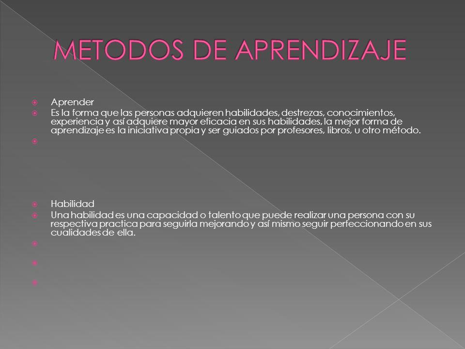METODOS DE APRENDIZAJE