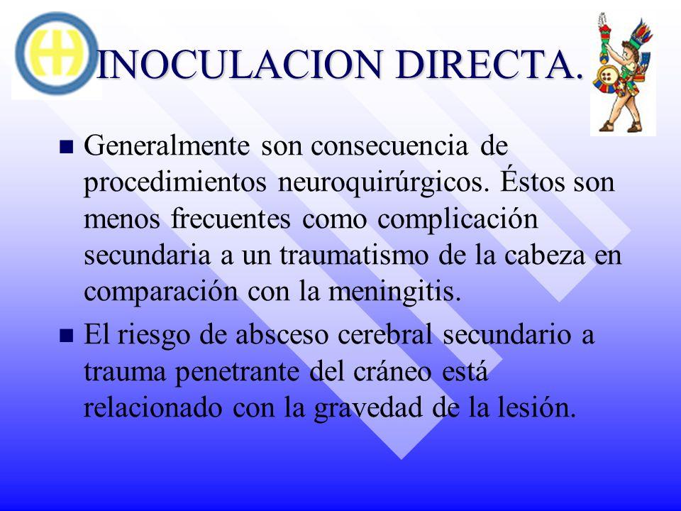 INOCULACION DIRECTA.