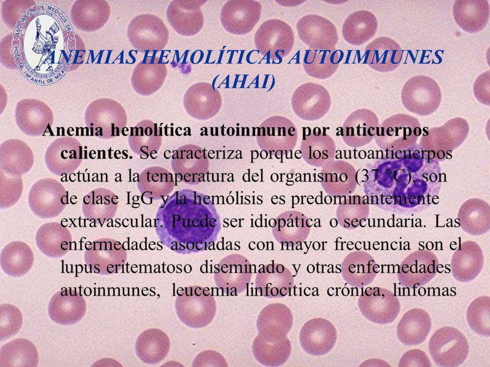 ANEMIAS HEMOLÍTICAS AUTOIMMUNES (AHAI)