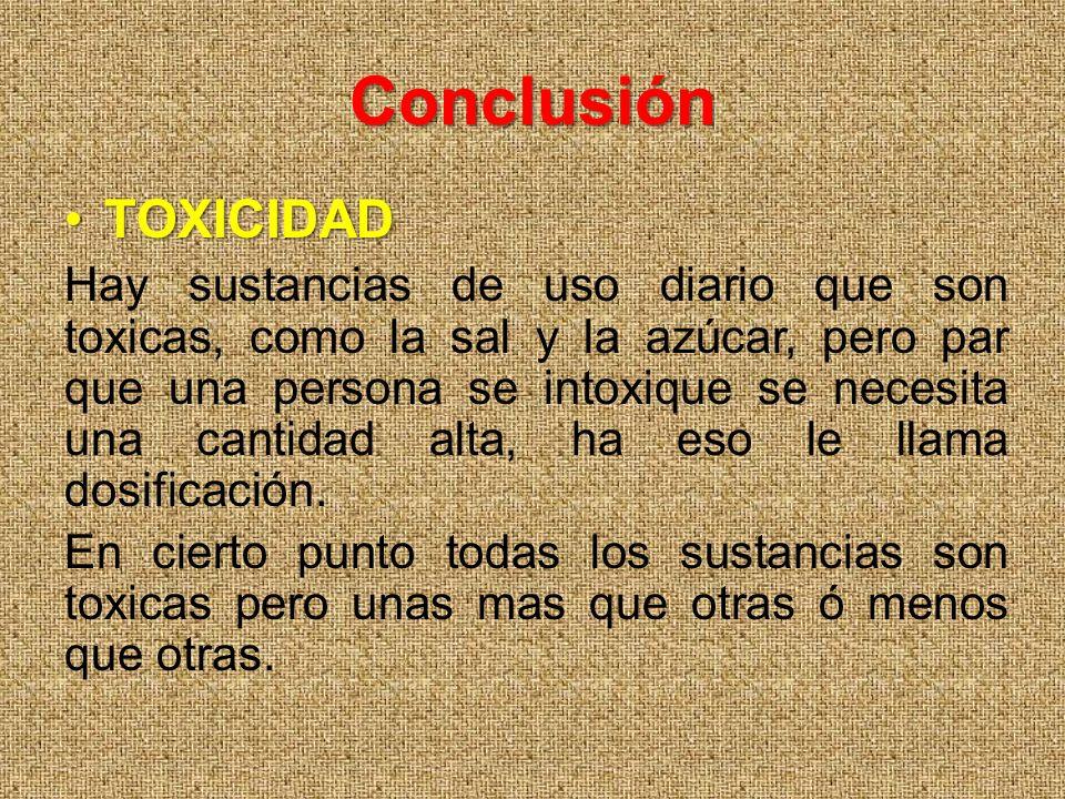 Conclusión TOXICIDAD.
