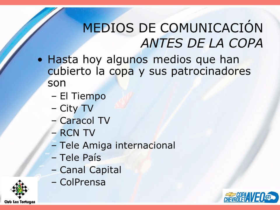 MEDIOS DE COMUNICACIÓN ANTES DE LA COPA