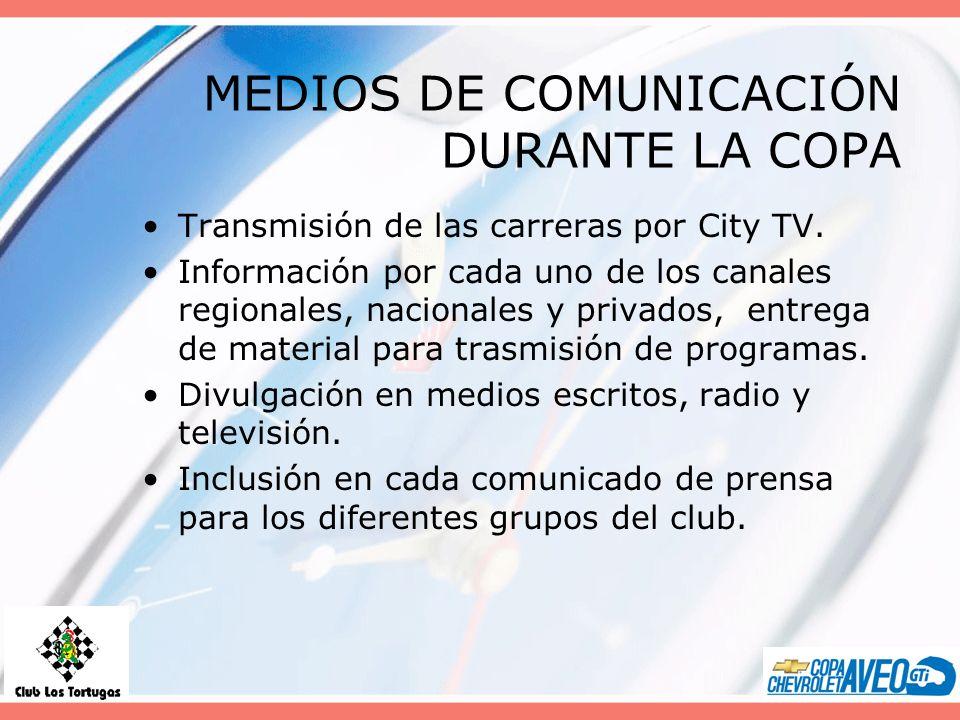 MEDIOS DE COMUNICACIÓN DURANTE LA COPA