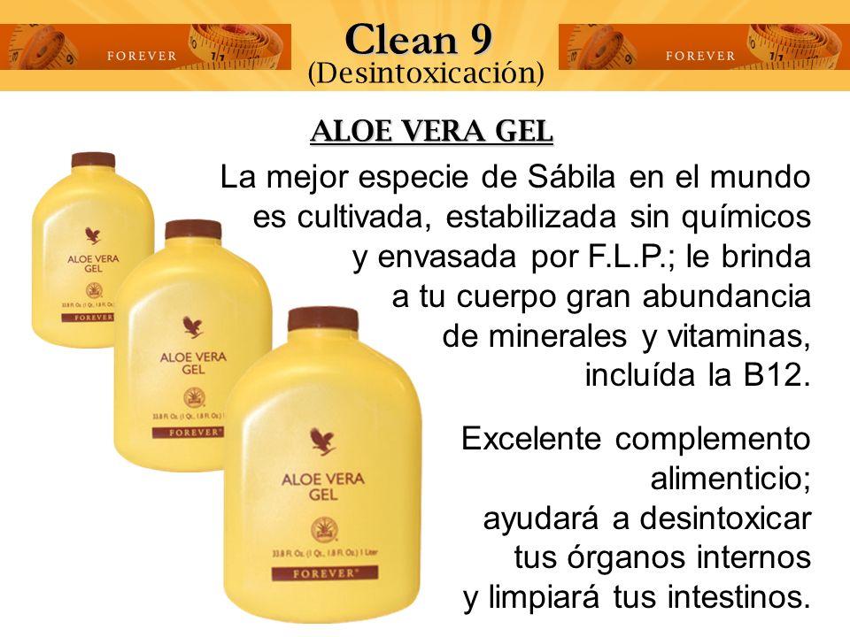 Clean 9 (Desintoxicación) ALOE VERA GEL.