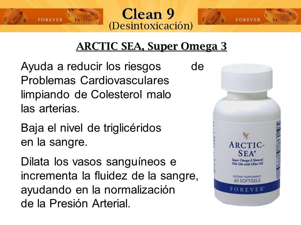 Clean 9 (Desintoxicación) ARCTIC SEA, Super Omega 3.
