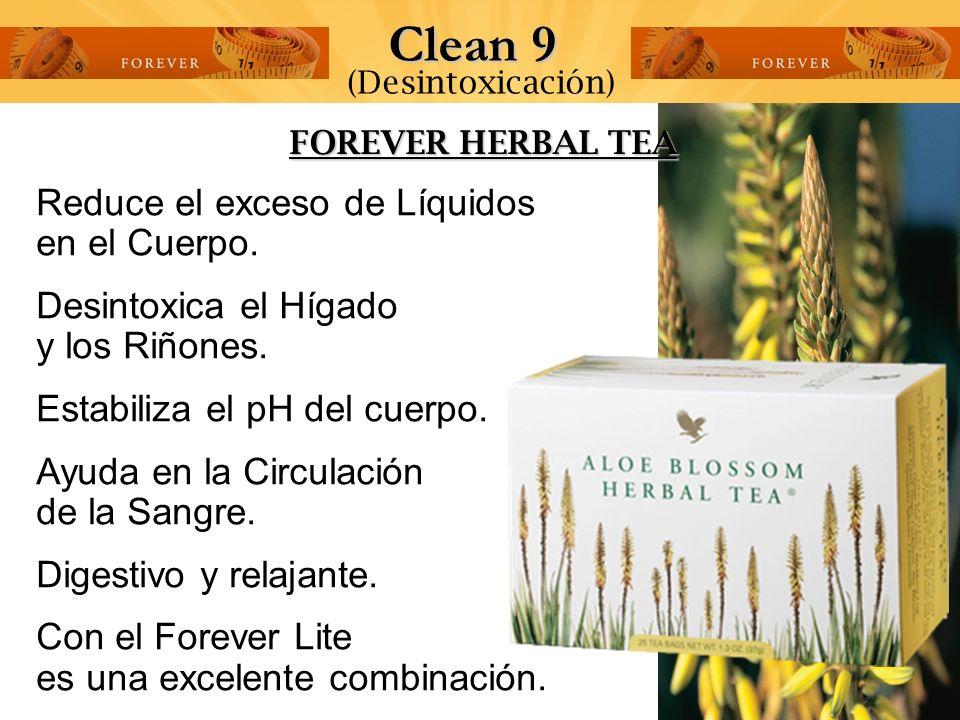 Clean 9 Reduce el exceso de Líquidos en el Cuerpo.