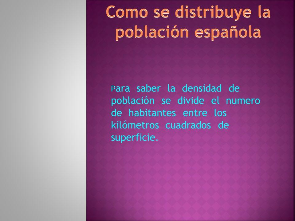 Como se distribuye la población española