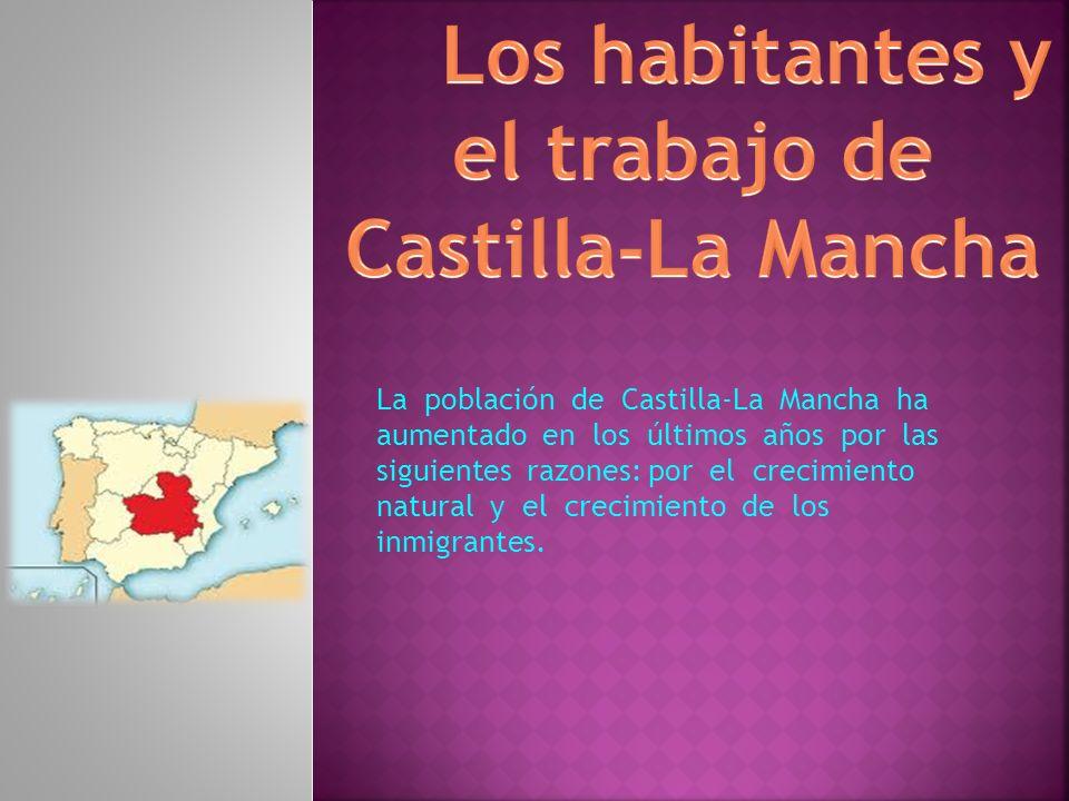 Los habitantes y el trabajo de Castilla-La Mancha