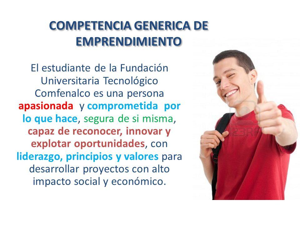 COMPETENCIA GENERICA DE EMPRENDIMIENTO