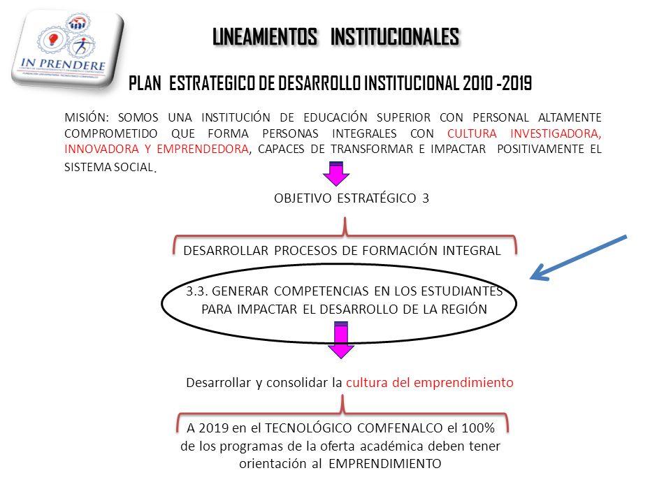 LINEAMIENTOS INSTITUCIONALES