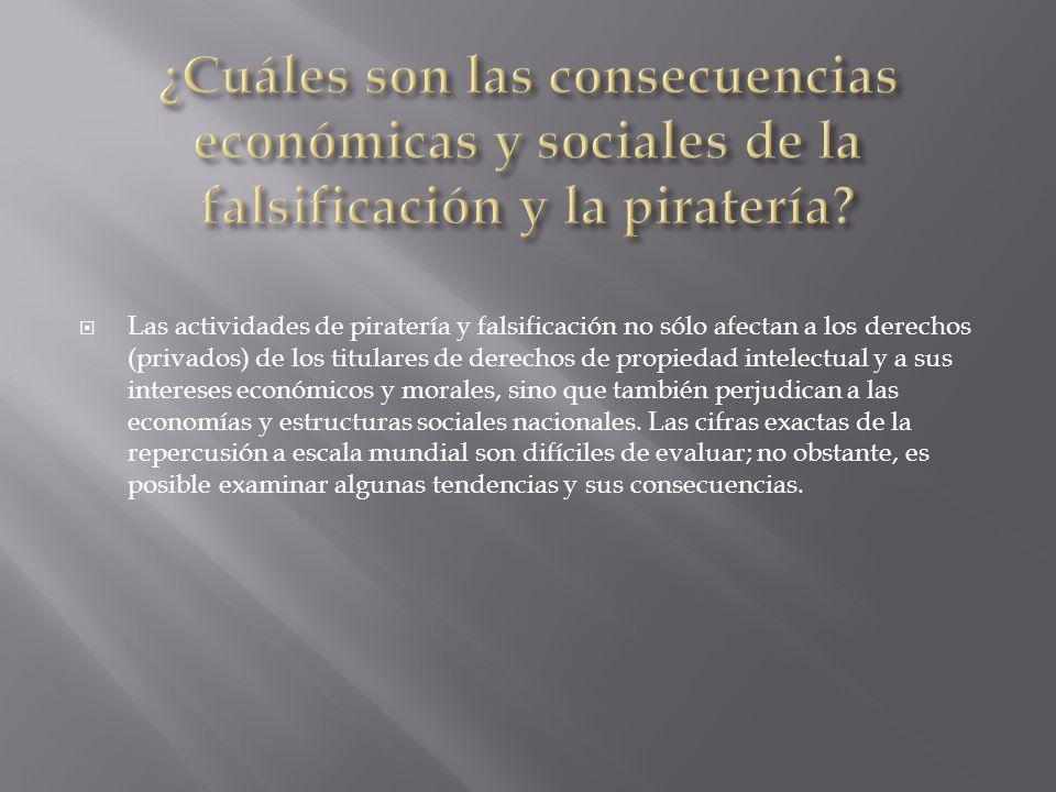 ¿Cuáles son las consecuencias económicas y sociales de la falsificación y la piratería