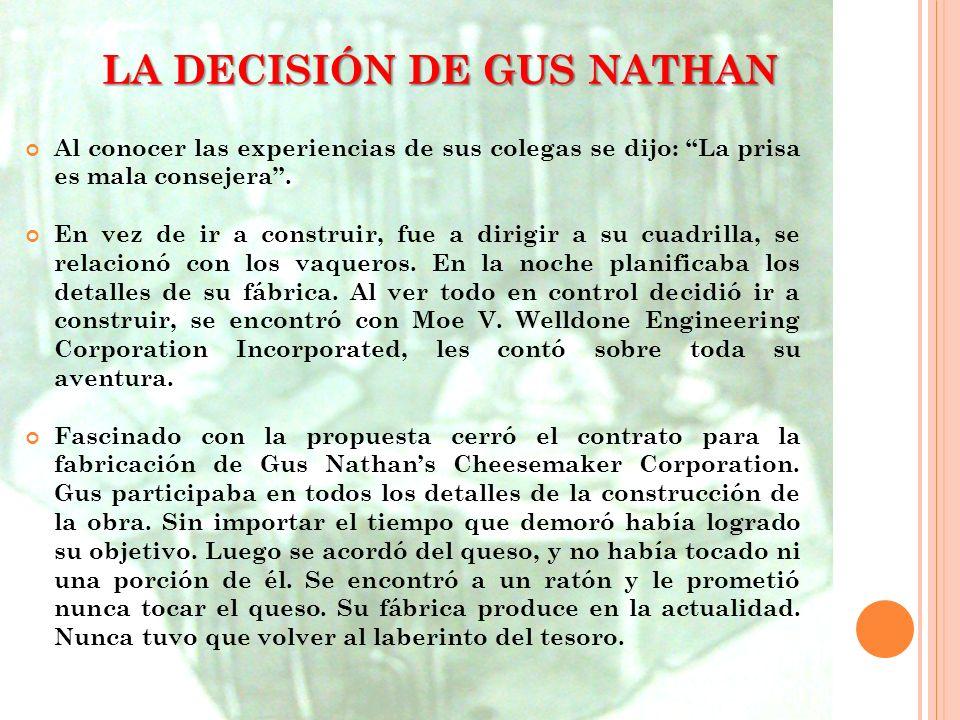 LA DECISIÓN DE GUS NATHAN