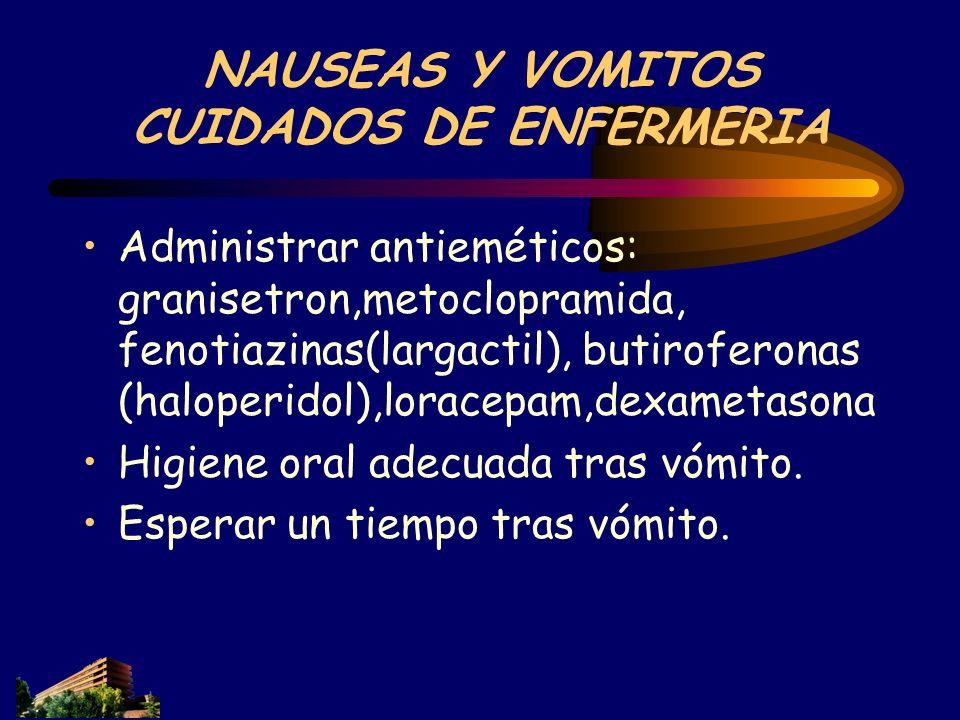 NAUSEAS Y VOMITOS CUIDADOS DE ENFERMERIA