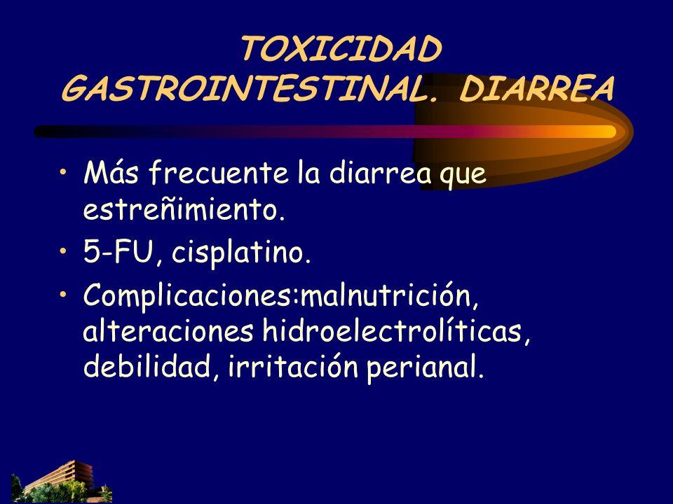 TOXICIDAD GASTROINTESTINAL. DIARREA