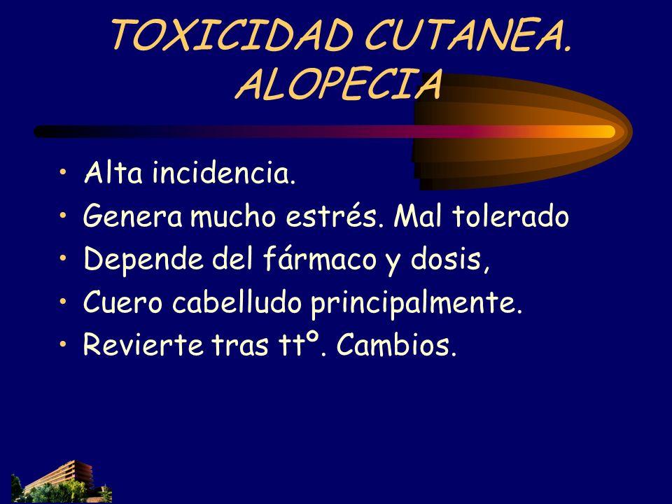 TOXICIDAD CUTANEA. ALOPECIA