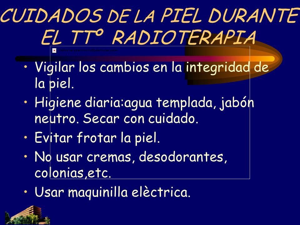 CUIDADOS DE LA PIEL DURANTE EL TTº RADIOTERAPIA
