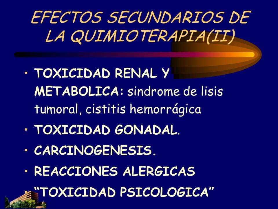 EFECTOS SECUNDARIOS DE LA QUIMIOTERAPIA(II)