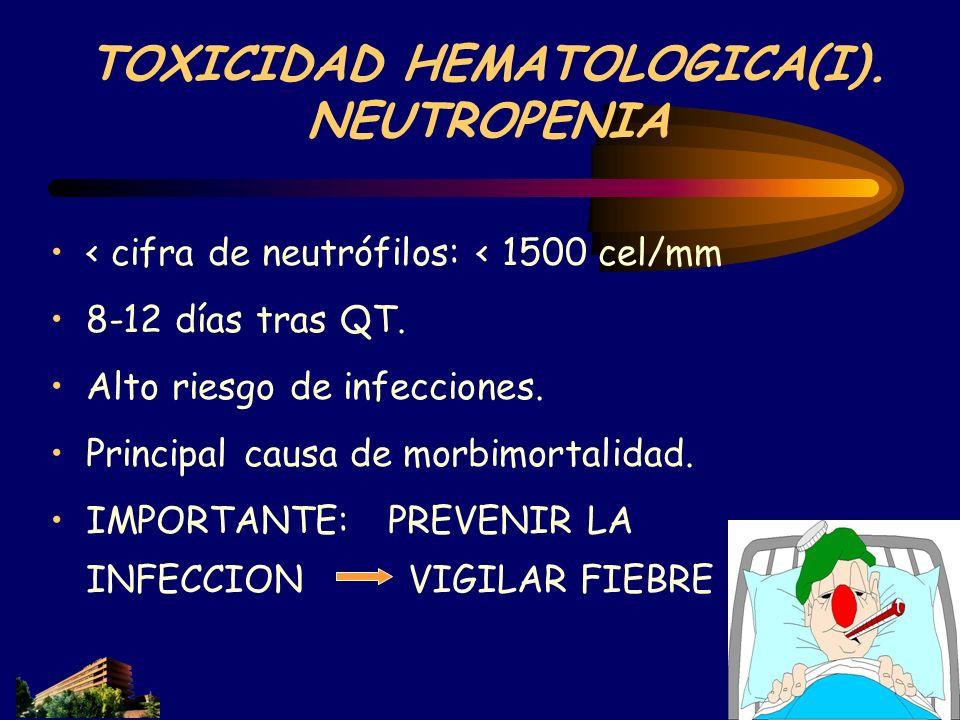 TOXICIDAD HEMATOLOGICA(I). NEUTROPENIA