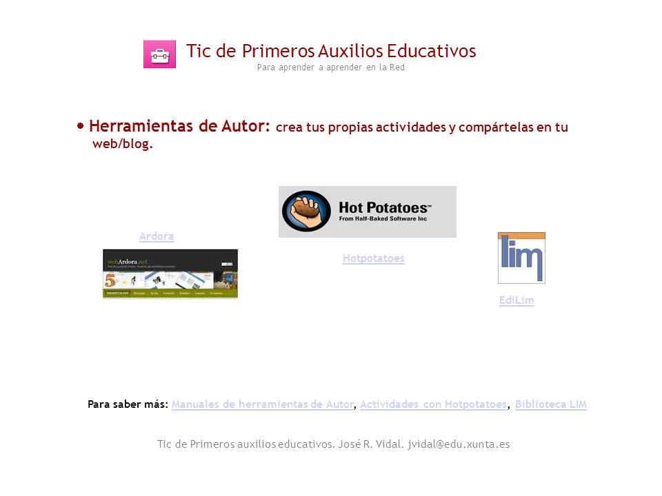 Tic de Primeros Auxilios Educativos Para aprender a aprender en la Red
