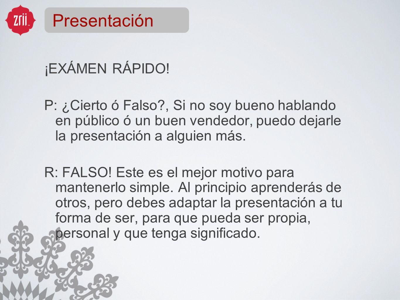 Presentación ¡EXÁMEN RÁPIDO!