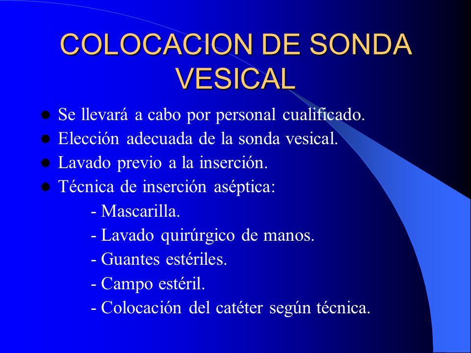 COLOCACION DE SONDA VESICAL