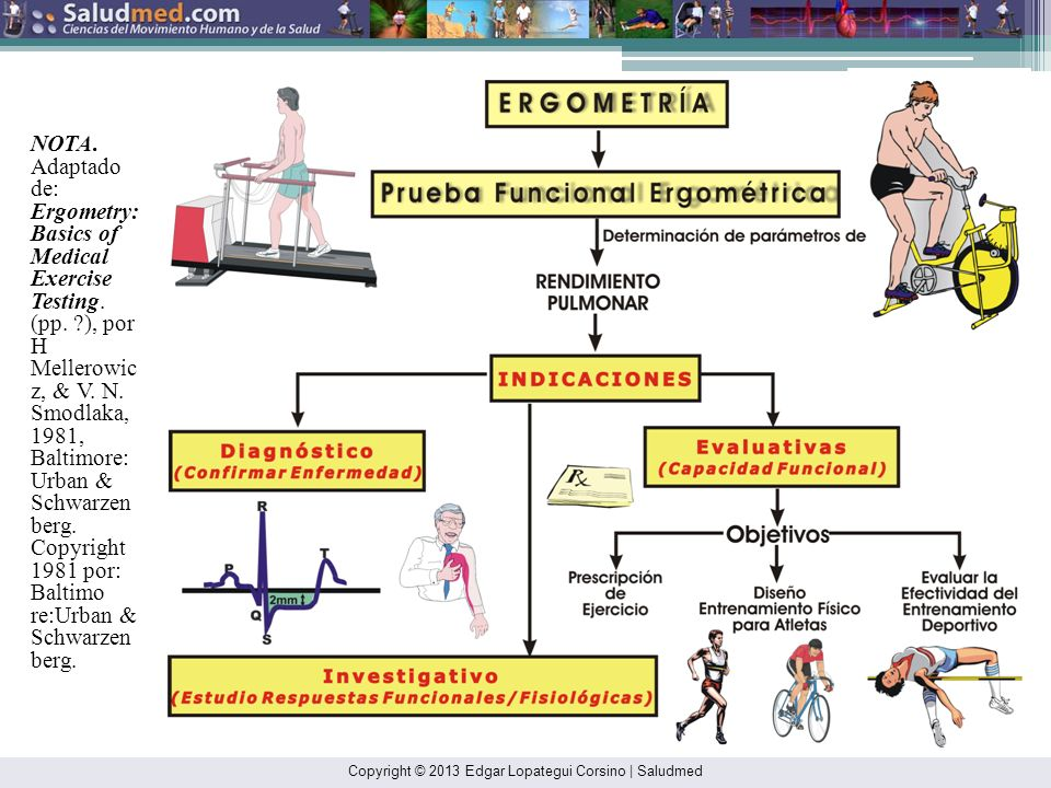 NOTA. Adaptado de: Ergometry: Basics of Medical Exercise Testing. (pp