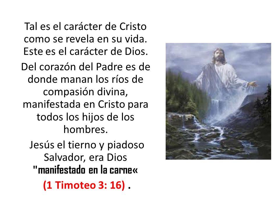 Tal es el carácter de Cristo como se revela en su vida