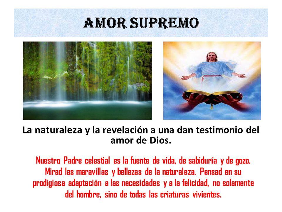 La naturaleza y la revelación a una dan testimonio del amor de Dios.