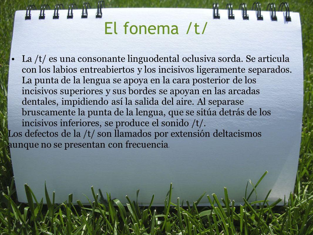 El fonema /t/