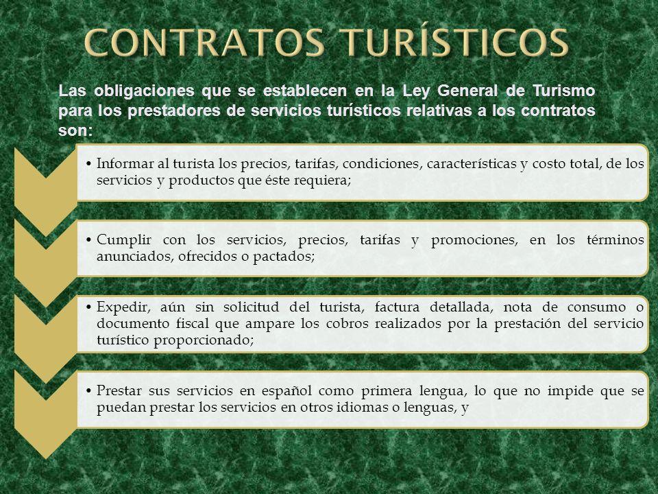 CONTRATOS TURÍSTICOS