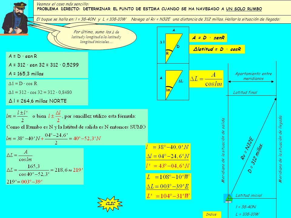 A = D · senR A = D · sen R A = 312 · sen 32 = 312 · 0,5299