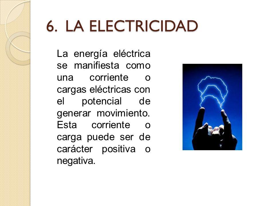 6. LA ELECTRICIDAD