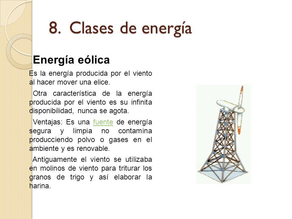 8. Clases de energía Energía eólica