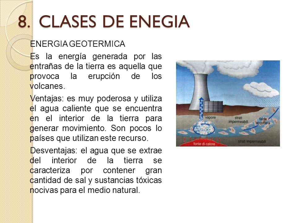 8. CLASES DE ENEGIA