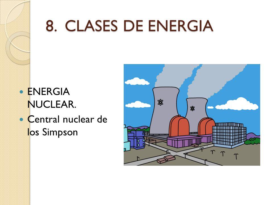 8. CLASES DE ENERGIA ENERGIA NUCLEAR. Central nuclear de los Simpson