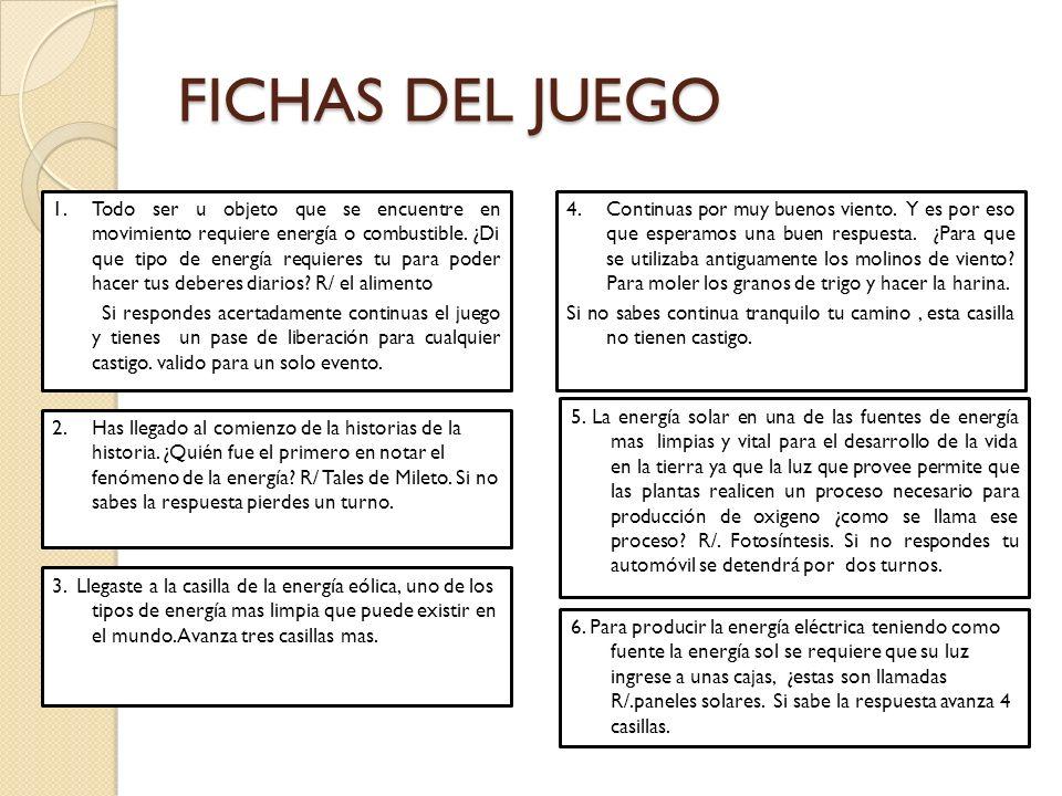 FICHAS DEL JUEGO