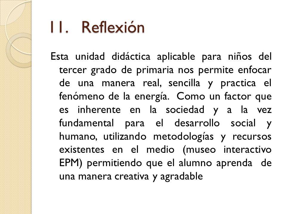 11. Reflexión