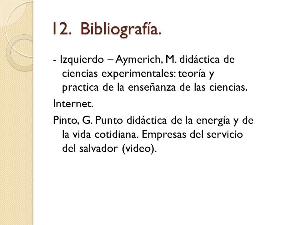12. Bibliografía.