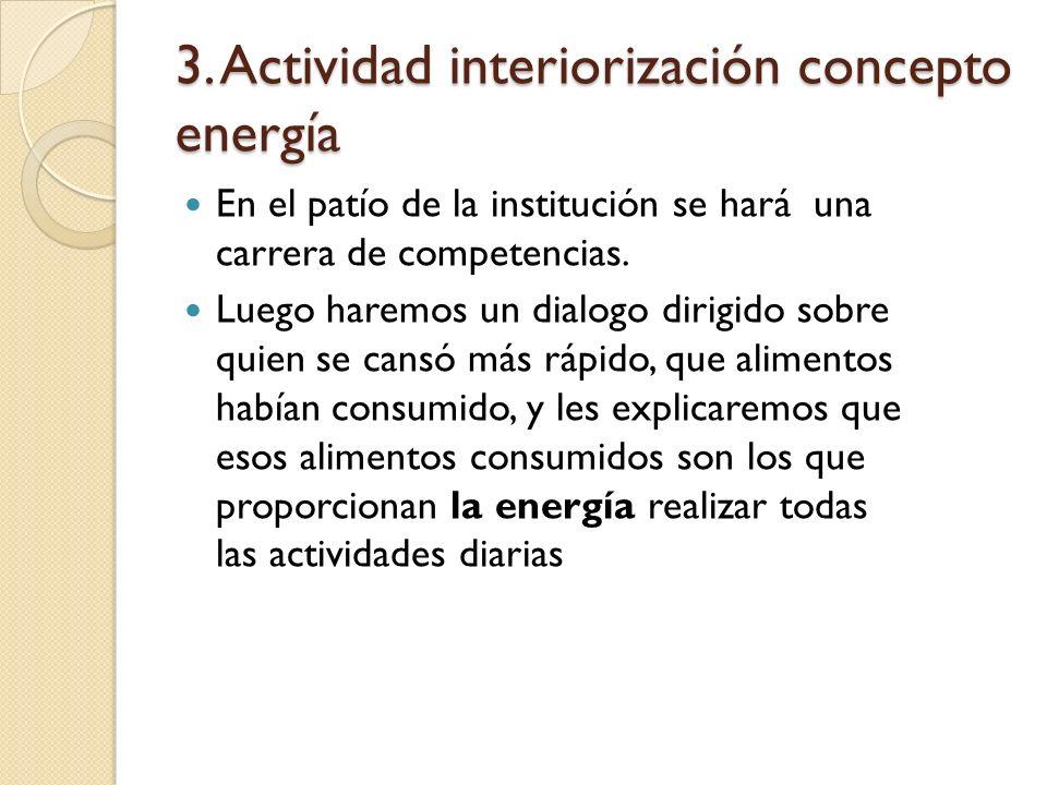 3. Actividad interiorización concepto energía